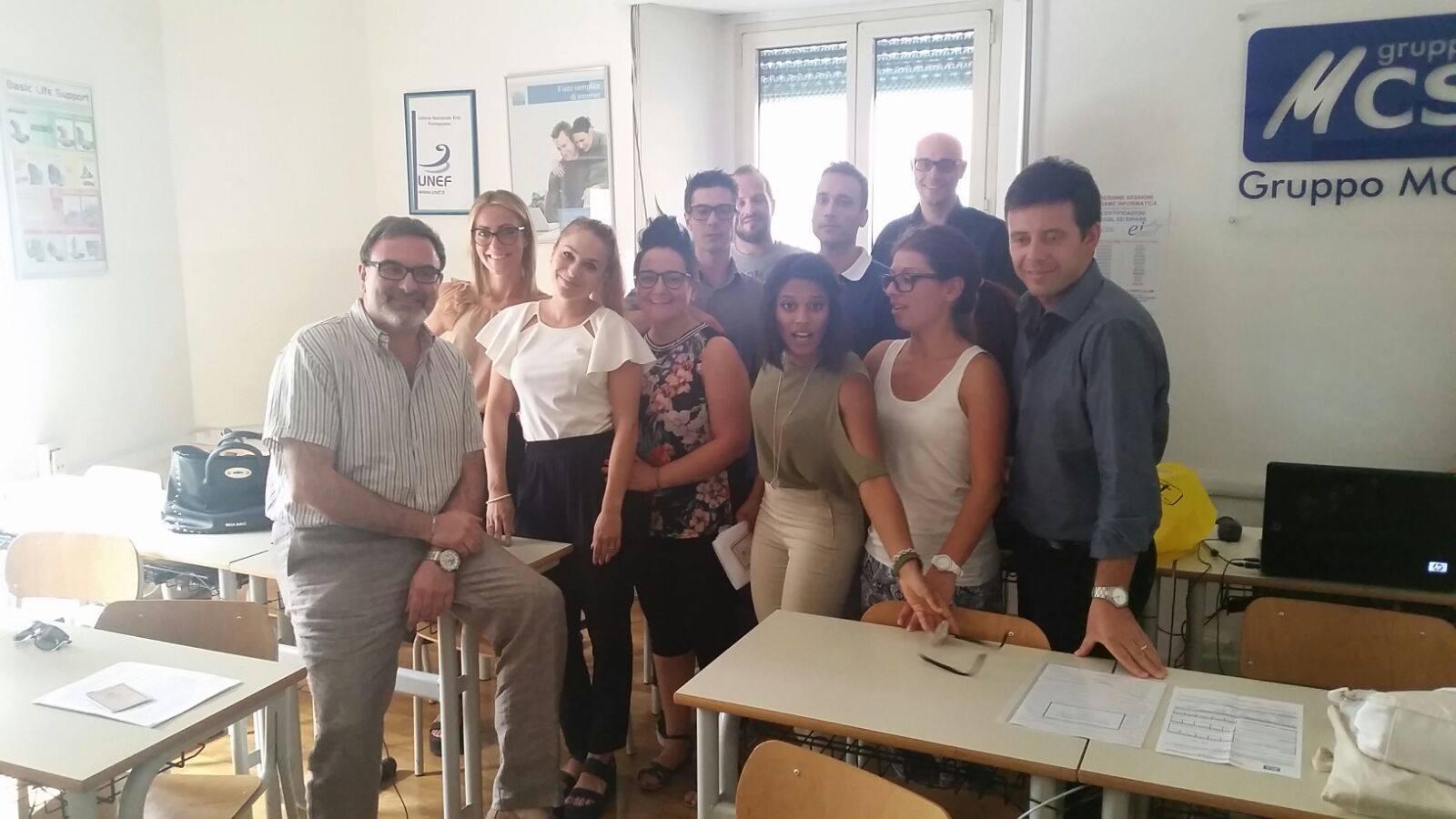 Corso Tecnico Contabile - PAGHE E CONTRIBUTI - classe a fine corso - GRUPPO MCS - dr. Marco Turella docente